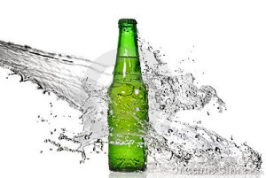 green-beer-bottle-with-water-splash-thumb13449869